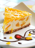 Mango Cheese Cake — Stock fotografie