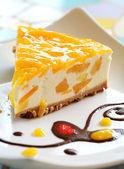 Mango tvarohový dort — Stock fotografie