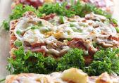 Square Pizza — Stock Photo