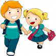 Going to School - Imagen vectorial