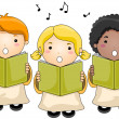 Stock Vector: Children Choir