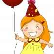 Royalty-Free Stock Vector Image: Birthday Party Girl