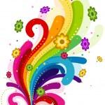 Floral Rainbow Design Element — Stock Vector #2432159
