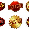 Badges and Labels Set — Stock Vector