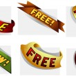 Royalty-Free Stock Imagem Vetorial: Ribbons Set