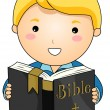 Reading Bible - Stock Vector