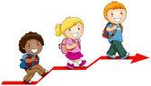 Kinder lernen — Stockvektor