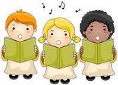 Coro di bambini — Vettoriale Stock