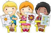 Arte bambini — Vettoriale Stock