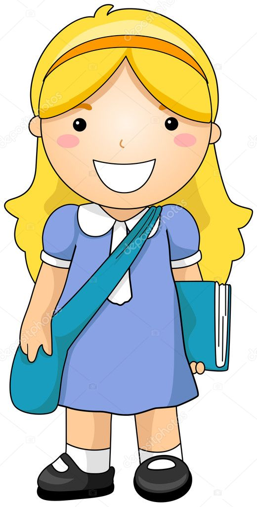 Girl Student with Clipping Path — Stock Vector #2432099