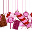Candies On Strings - Stock Vector