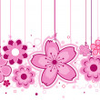 Pink Flowers — Vector de stock #2440744