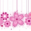 Pink Flowers - Stockvectorbeeld