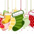 Christmas Stockings - Stok Vektr