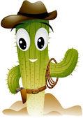Cactus Cowboy — Stock Vector