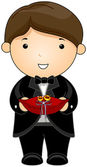 Ring Bearer — Stock Vector