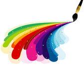 Colores del arco iris de la pintura — Vector de stock