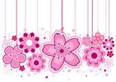 Pembe çiçekler — Stok Vektör