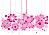 Pink Flowers — Stockvector