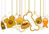 Canne en bonbon avec sac cadeau, illustration — Vecteur