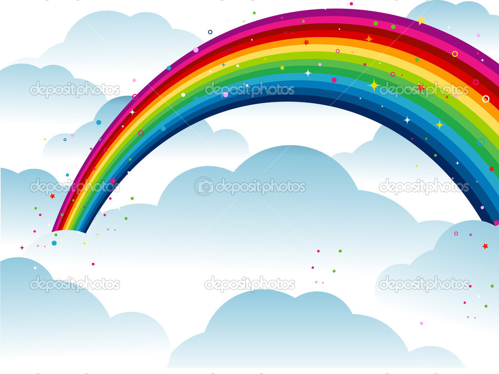 Rainbow on top of Clouds  — Stock Vector #2440671
