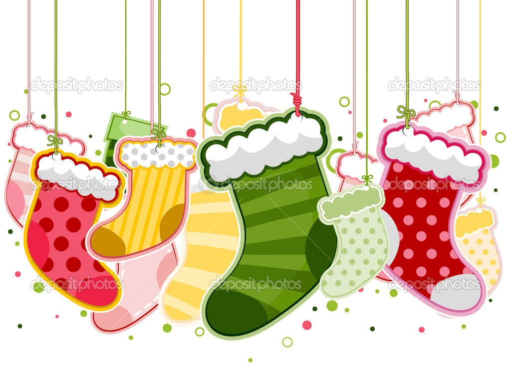 Christmas Stockings On Strings with Clipping Path   #2440756