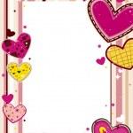Hearts Frame — Stock Vector