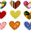Stock Vector: Funky Heart Patches