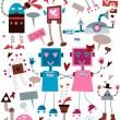 Love Robots — Stock Vector