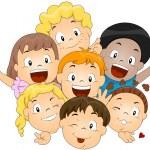 Happy Children — Stock Vector
