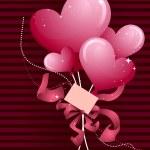 Heart Balloons Design — Stock Vector