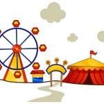 Theme Park — Stock Vector