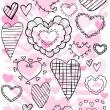 Royalty-Free Stock Imagen vectorial: Heart Doodles