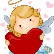 Angel Heart — Stock Vector