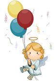 Angel Birthday — Stock Vector