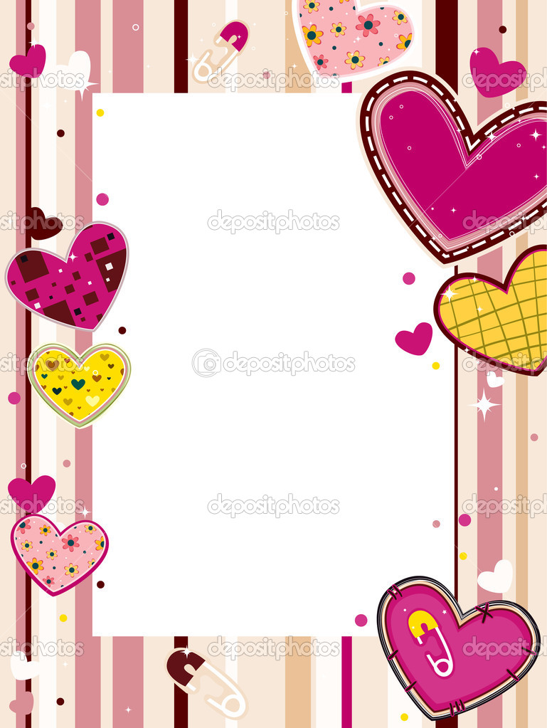 Hearts Frame with Clipping Path — Stock Vector #2572052