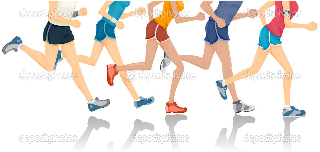 Lower Body of Jogging with Clipping Path  Stock Vector #2576387