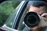 Paparazzi Hiding — Stock Photo