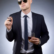 Young businessman asking for a lite — Stock Photo