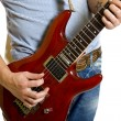 Electric guitar being played - Stock Photo