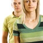 Young unhappy couple — Stock Photo