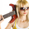 Royalty-Free Stock Photo: Woman with guitar