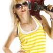 Guitar on shoulder — Stock Photo #2334195