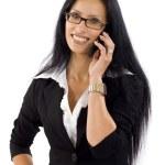 Businesswoman speaking on the phone — Stock Photo