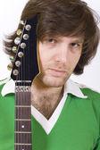 Closeup of a guitarist — Stock Photo