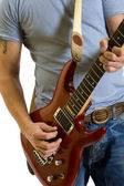 Closeup of a guitarist — Stock Photo