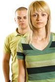 Joven pareja infeliz — Foto de Stock