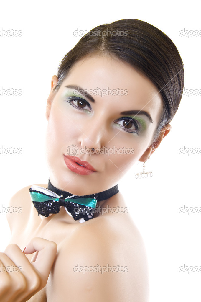 Beautiful young woman face. Isolated over white background — Stock Photo #2333915