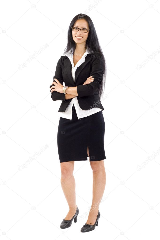 Attractive businesswoman standing on a white background  Stock Photo #2334329