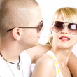 Couple embracing each other playfully — Stock Photo